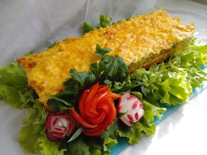 Трёхцветный террин (запечённый паштет) из курицы с оливками, пошаговый рецепт