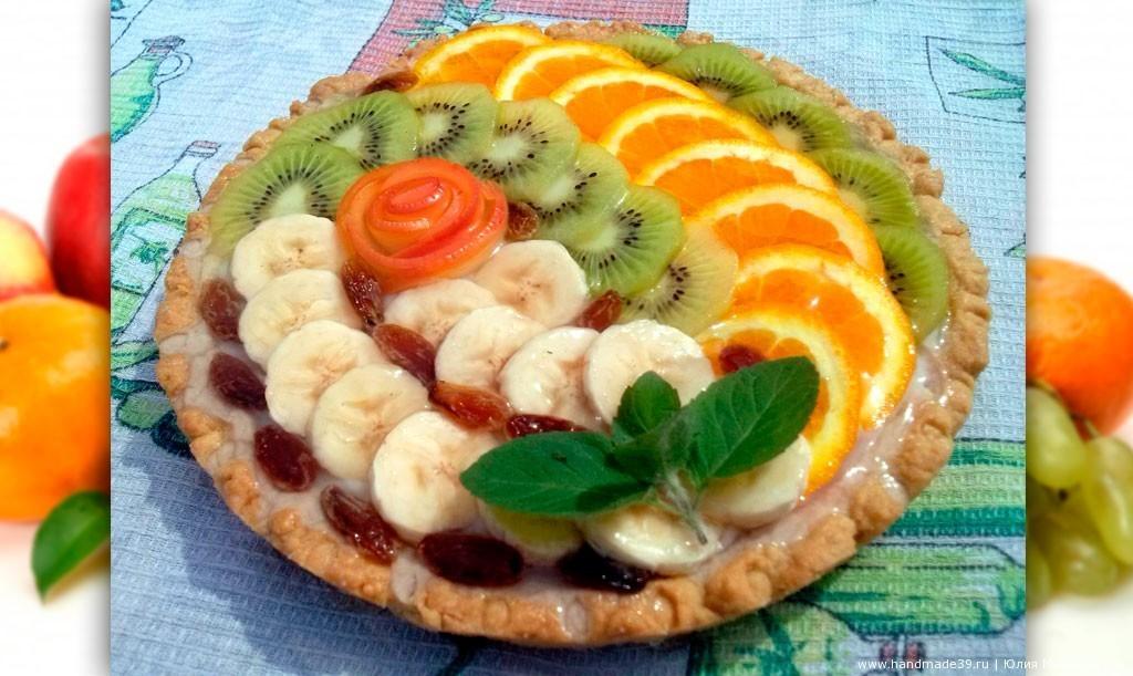 Песочный пай с фруктами