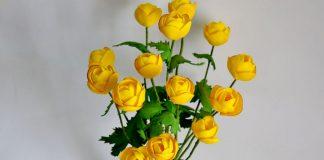 МК Цветы Купальницы из фоамирана