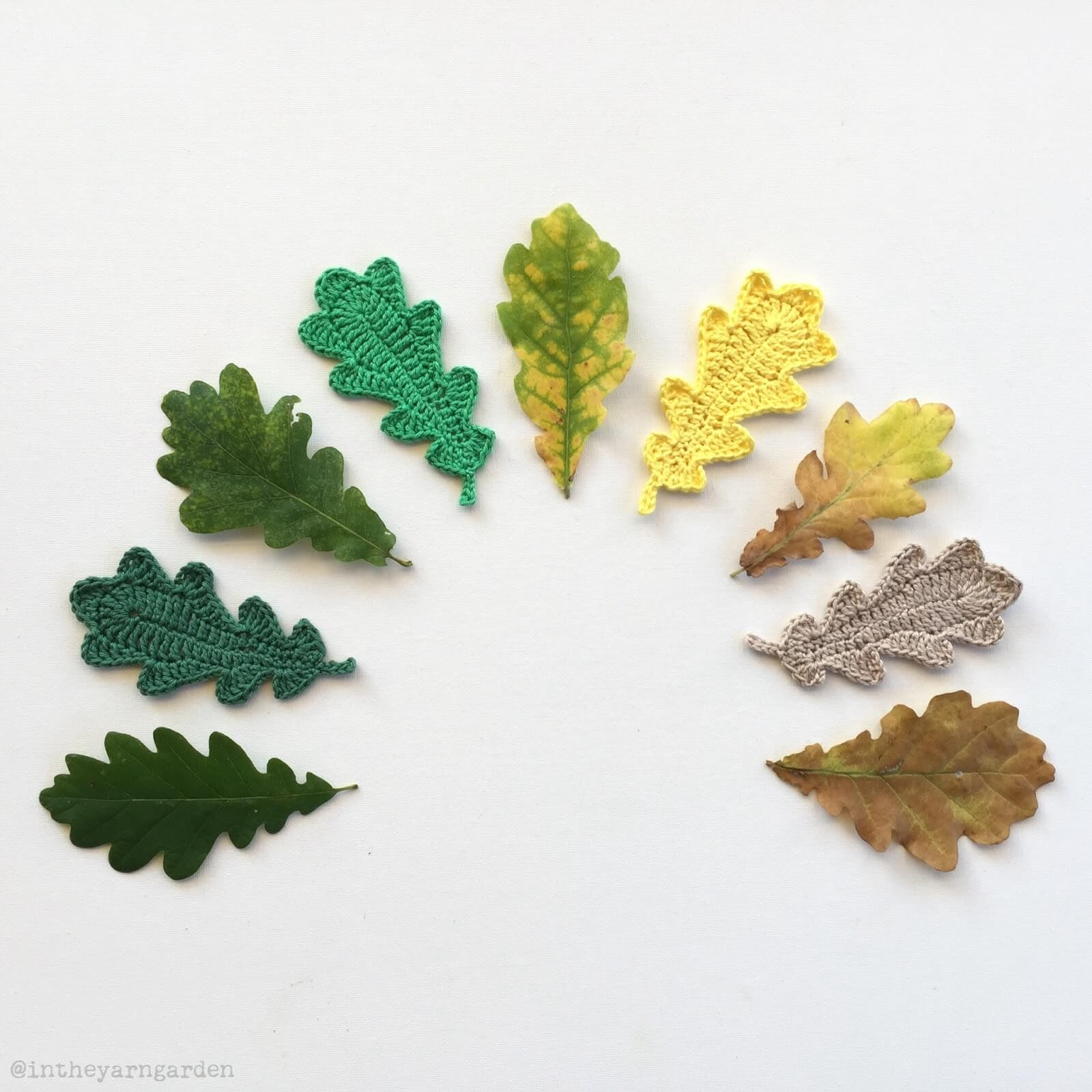 Вышивка дубовый лист