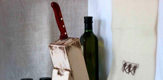 МК Состаривание подставки для ножей