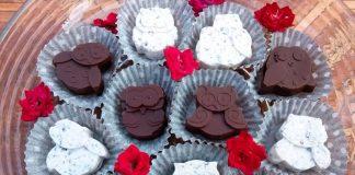 Домашний шоколад «Совушки с клубникой»