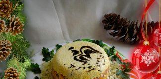 Рецепт салата с куриными желудками «Петушок»