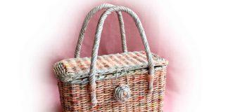 МК Плетёная корзина-сумка