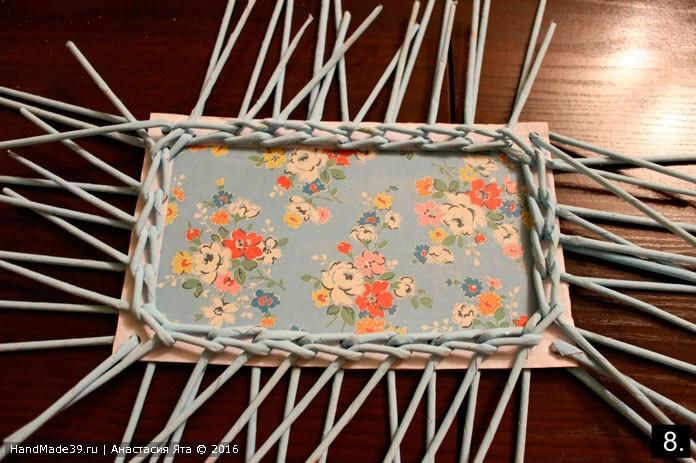 Плетёный короб для газет в стиле шебби-шик – мастер-класс