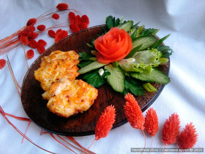 Рецепт рубленых куриных котлет с тыквой