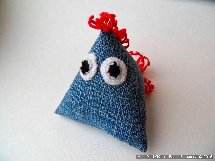 Мягкая игрушка «Петух треугольный» - мастер-класс