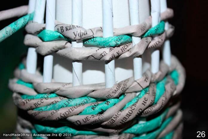 Мастер-класс «Плетёная из бумажных трубочек новогодняя ёлка»