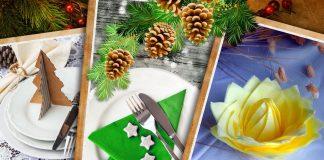 Мастер-класс «Украшение новогоднего стола: салфетки, ёлочки»