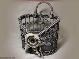 МК «Ажурная плетёная корзина с картонным дном»