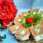 Рецепт рулета из лаваша «Праздничный»
