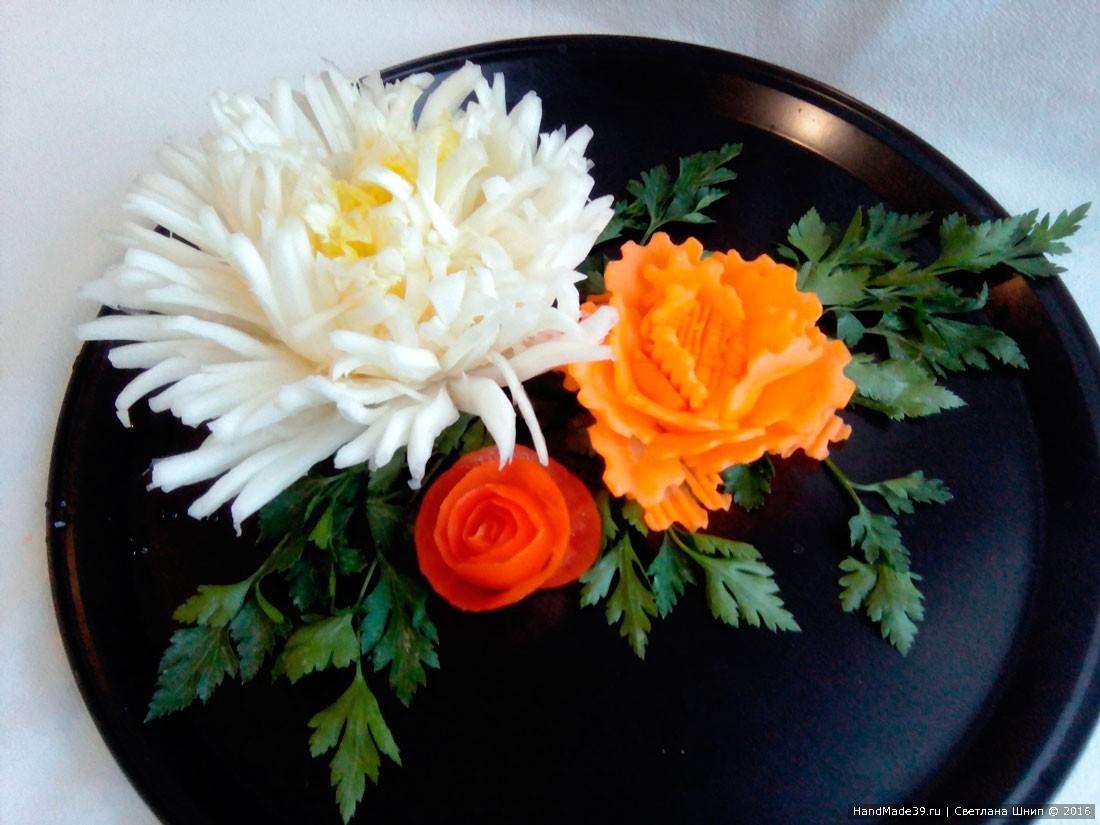 МК «Цветы из овощей своими руками»