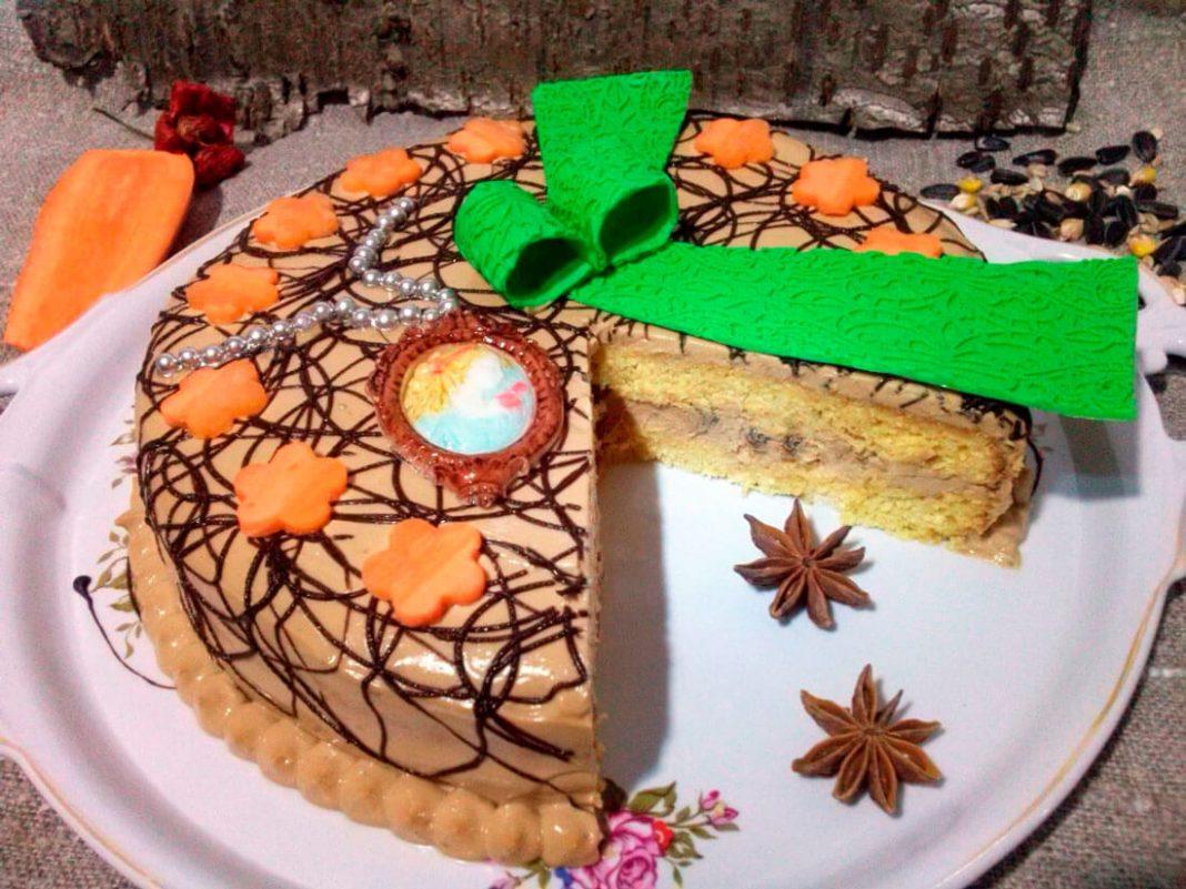 Морковный торт Дачница – пошаговый рецепт