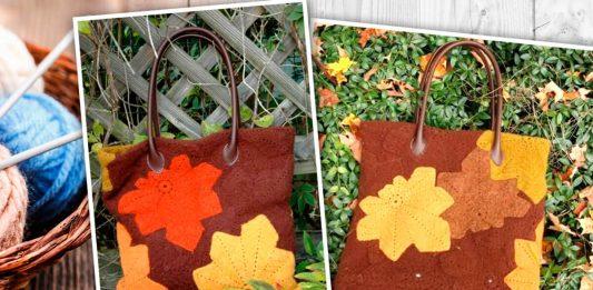Вязанная крючком сумка «Каштановые листья», мастер-класс
