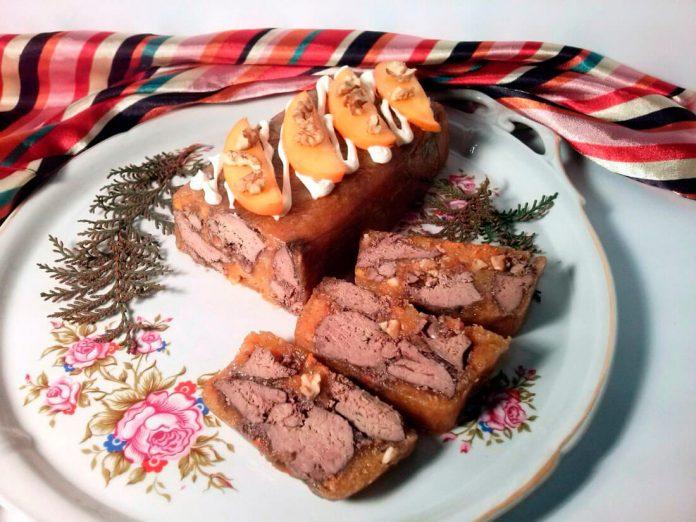 Рецепт приготовления куриной печени в желе из хурмы