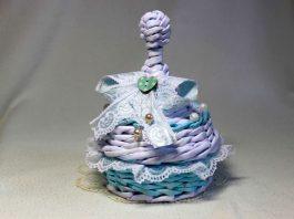 Мастер-класс «Плетённая из газет шкатулка в стиле шебби-шик»