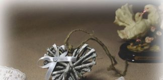 Плетёное сердце из газетных трубочек, мастер-класс