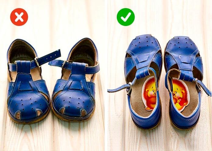 Как сделать так, чтобы ребёнок не путал правую и левую обувь