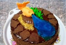 Шоколадный торт Фонтан с безе и желе – пошаговый рецепт с фото