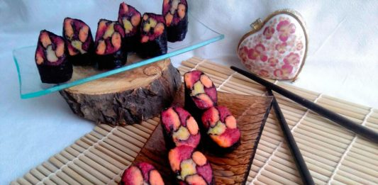 Закуска с селёдкой и овощами «Витражи» - пошаговый рецепт с фото (японская кухня)