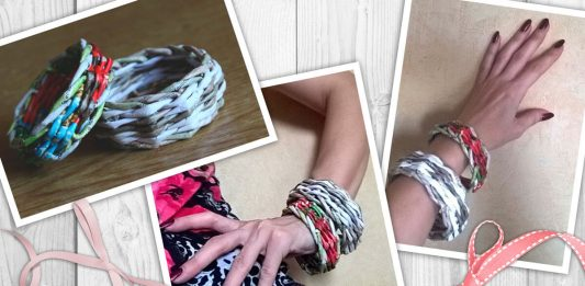 Браслет, плетённый из бумажных трубочек – мастер-класс.