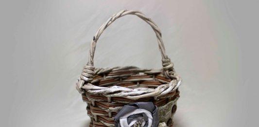 Ведёрко, плетённое из бумажных трубочек – мастер-класс