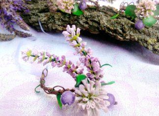 Как сделать плетёный браслет с цветами из фоамирана