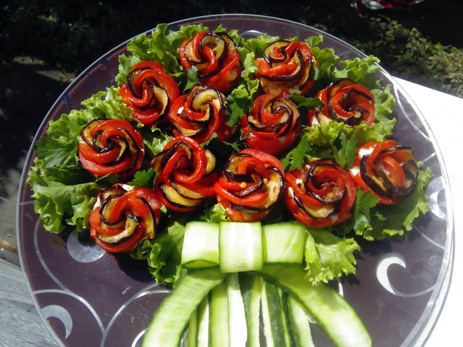 праздничные закуски из овощей с фото