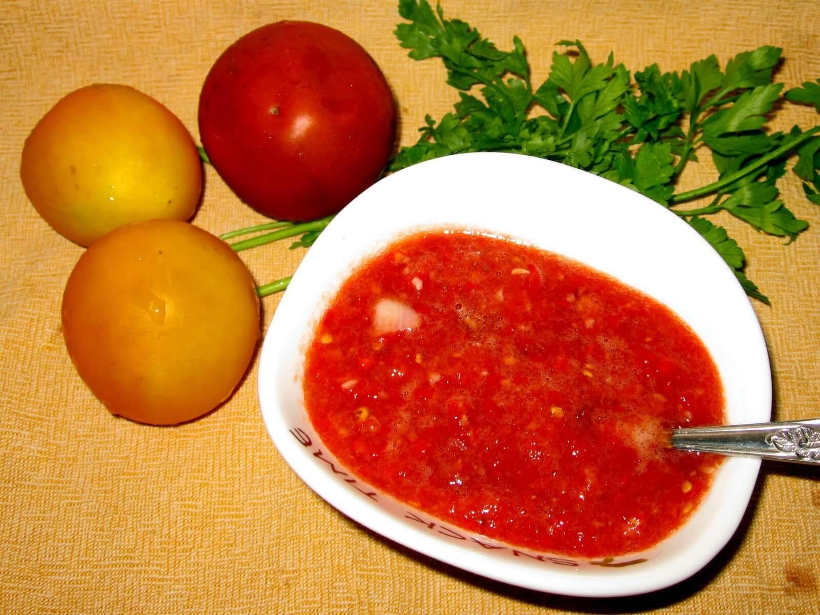 Аджика из острого перца пошаговый фото рецепт