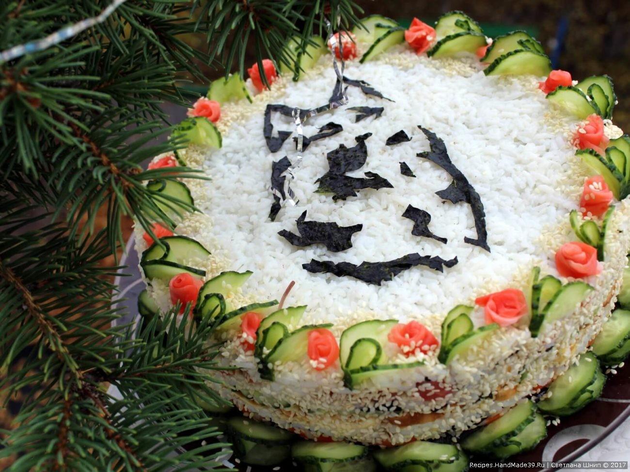 Суши ленивые тортик рецепты фото
