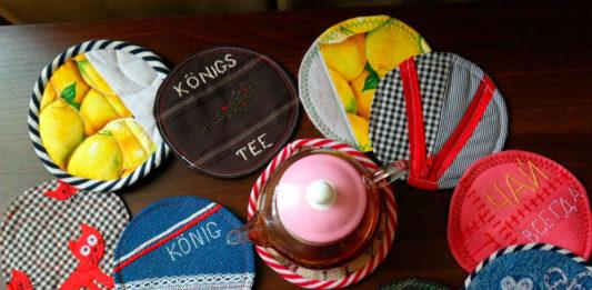 Шитые подставки под чашку своими руками – мастер-класс. Как быстро сшить подарок на Новый год. Как самому сделать косую бейку.