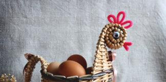 Плетёная корзинка-курочка, мастер-класс