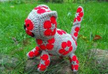 Вязанный крючком кот из «африканских» мотивов-многоугольников – мастер-класс
