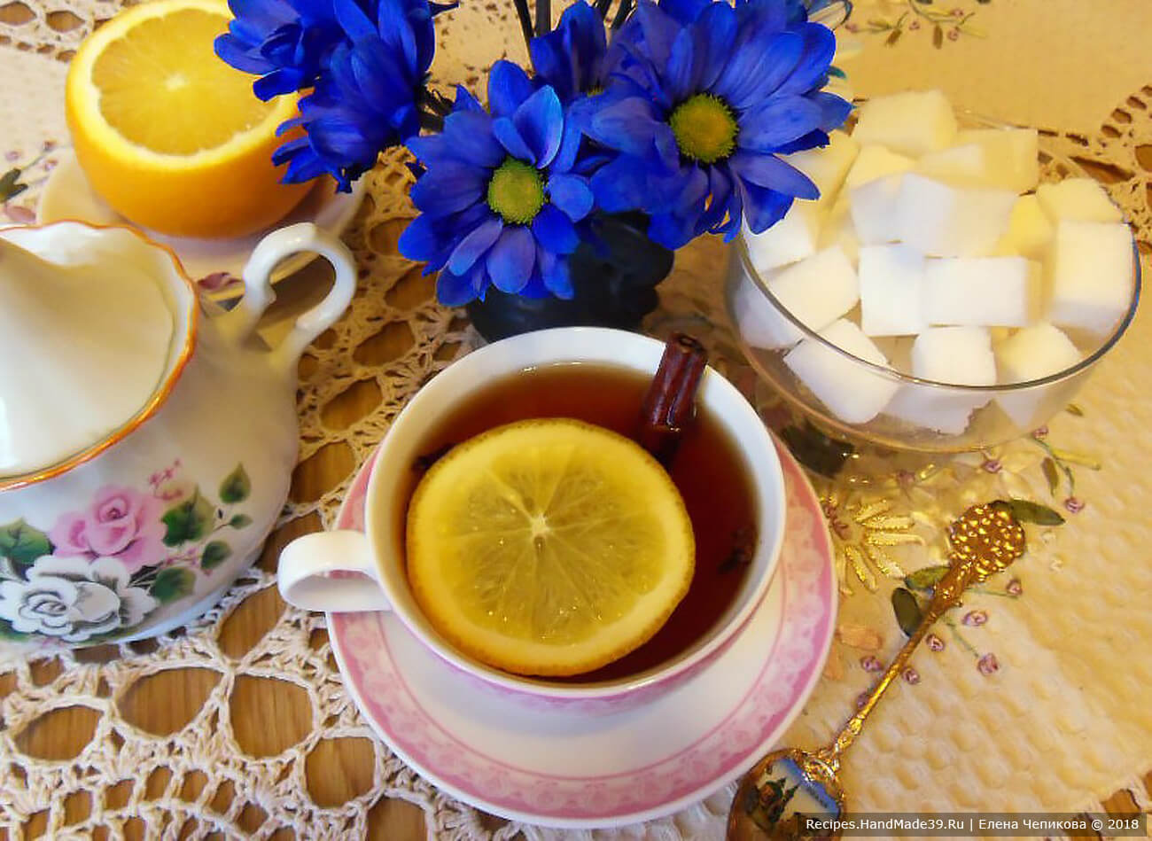 согревающий чай с корицей