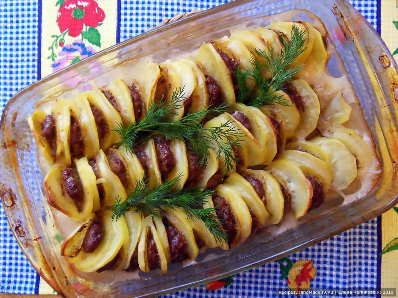 «Пьяный картофель» с фаршем – пошаговый кулинарный рецепт с фото