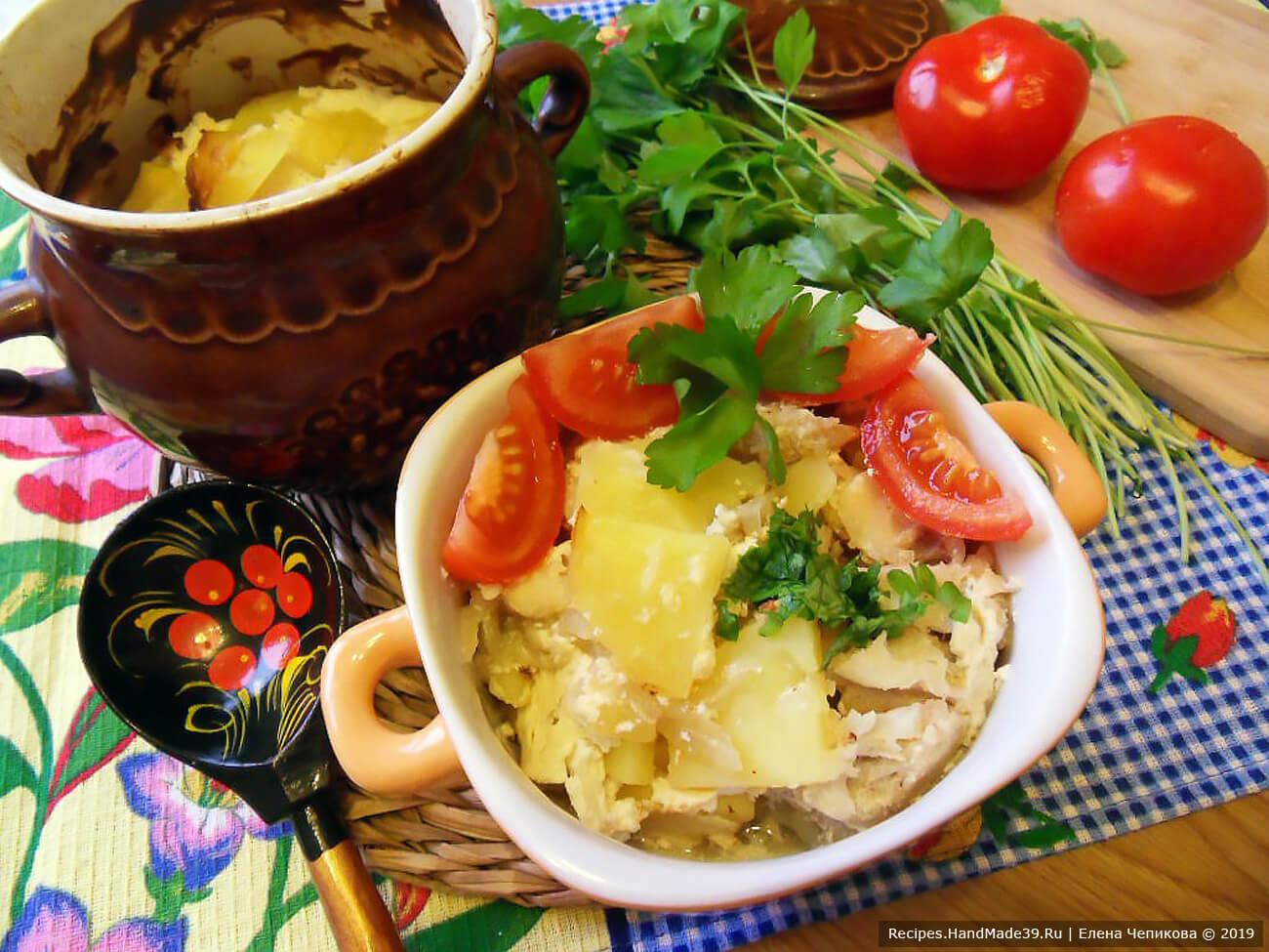 Рыба с картофелем, запечённая в горшочке – пошаговый кулинарный рецепт с фото