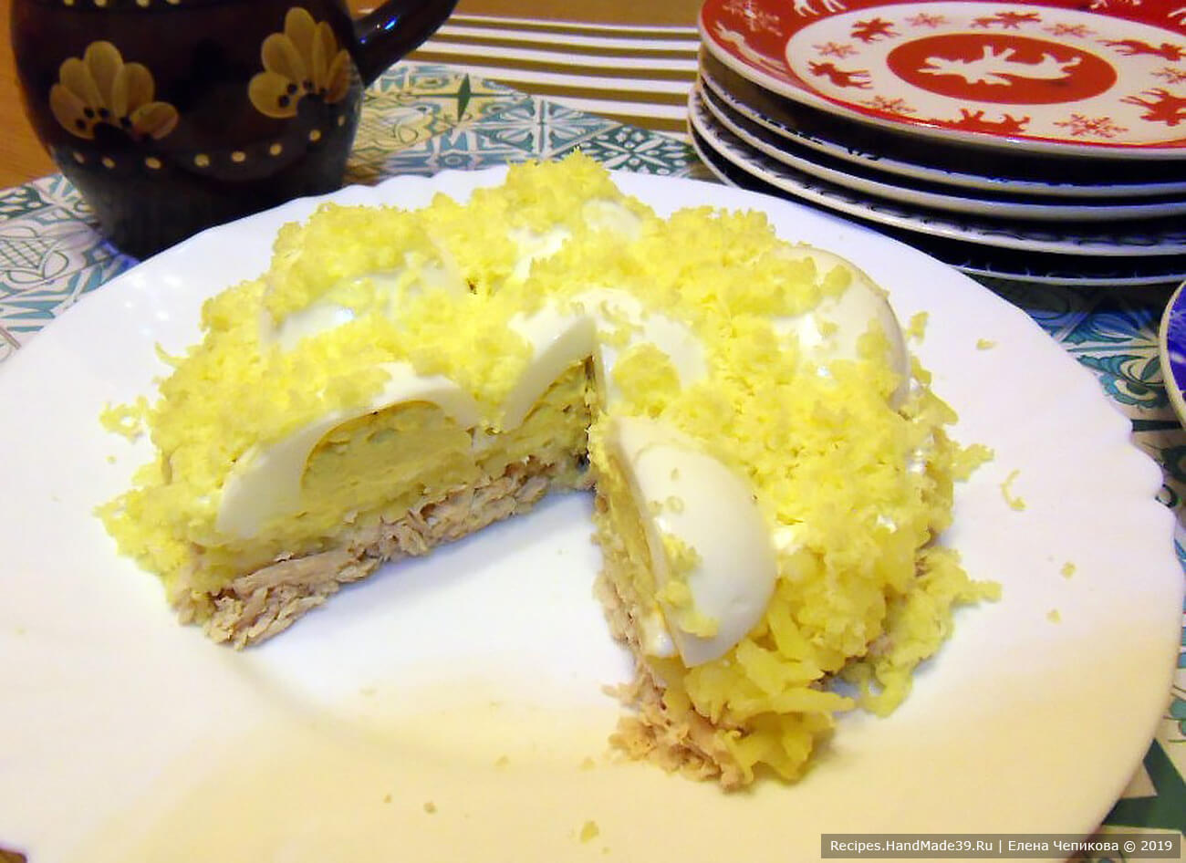 Салат «Снежные сугробы» – пошаговый кулинарный рецепт с фото