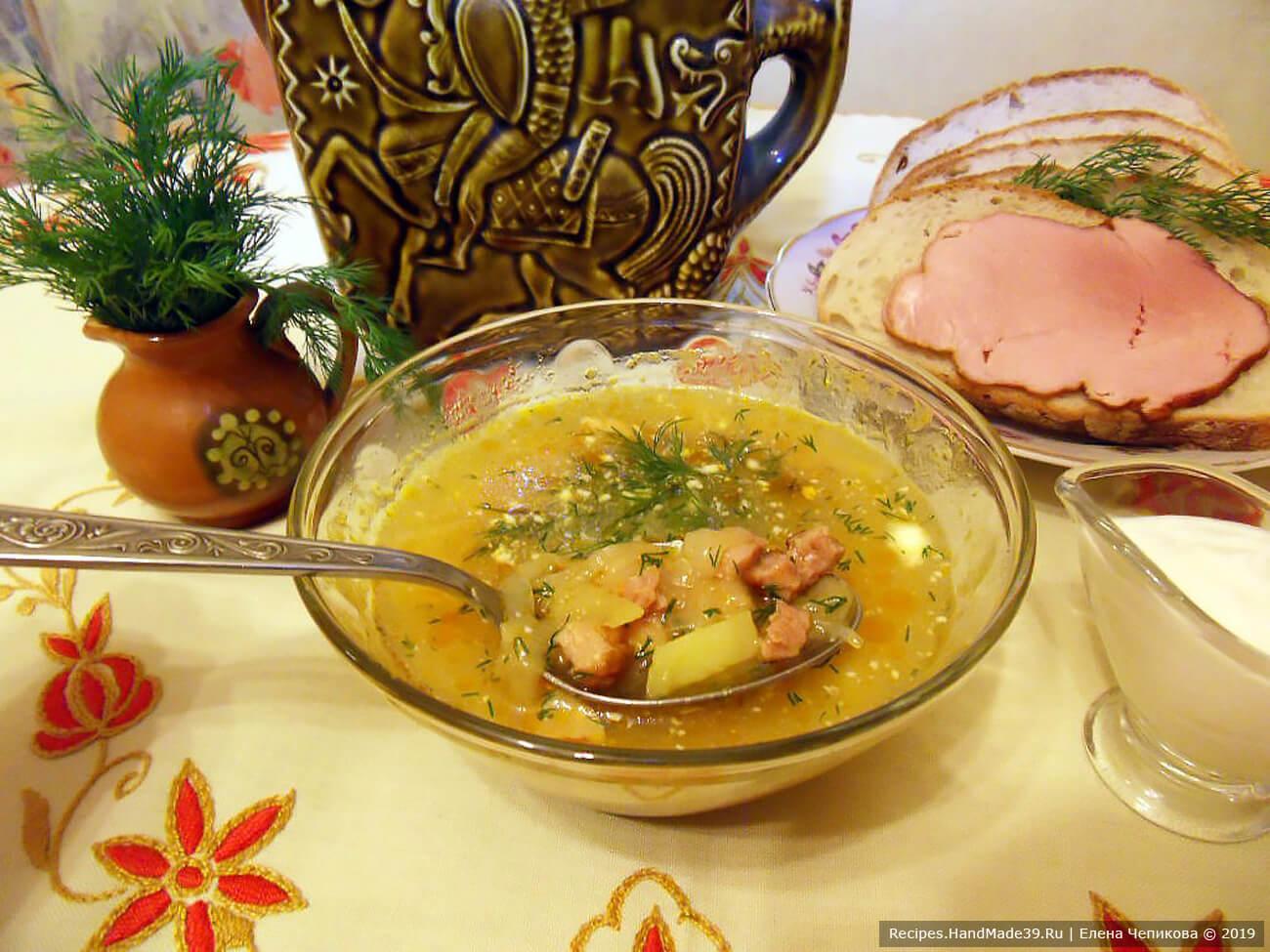 Щи с копчёностями – пошаговый кулинарный рецепт с фото