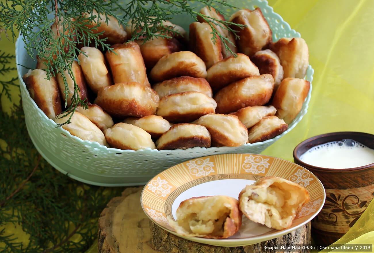 Жареные пирожки с начинкой – пошаговый кулинарный рецепт с фото