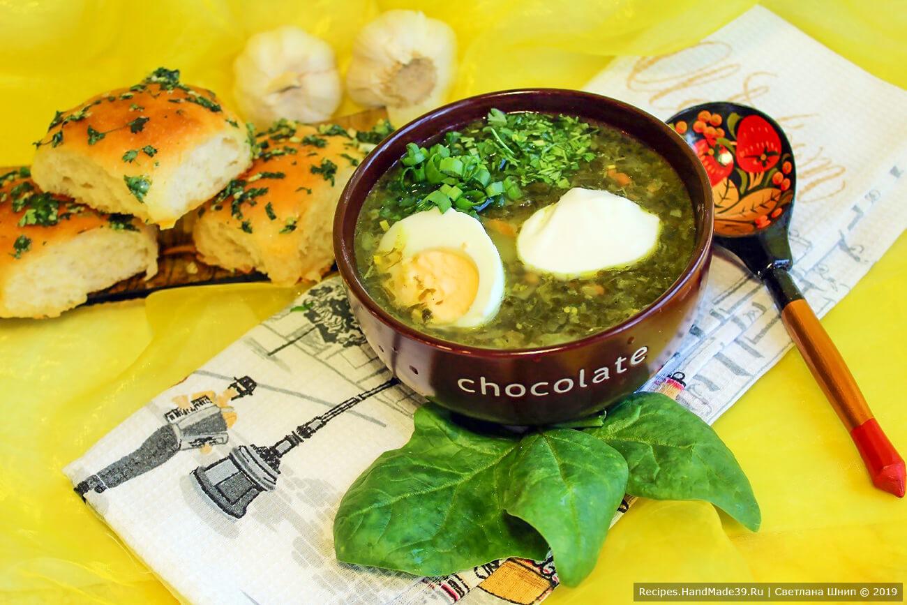 Зелёный борщ со щавелем – пошаговый кулинарный рецепт с фото