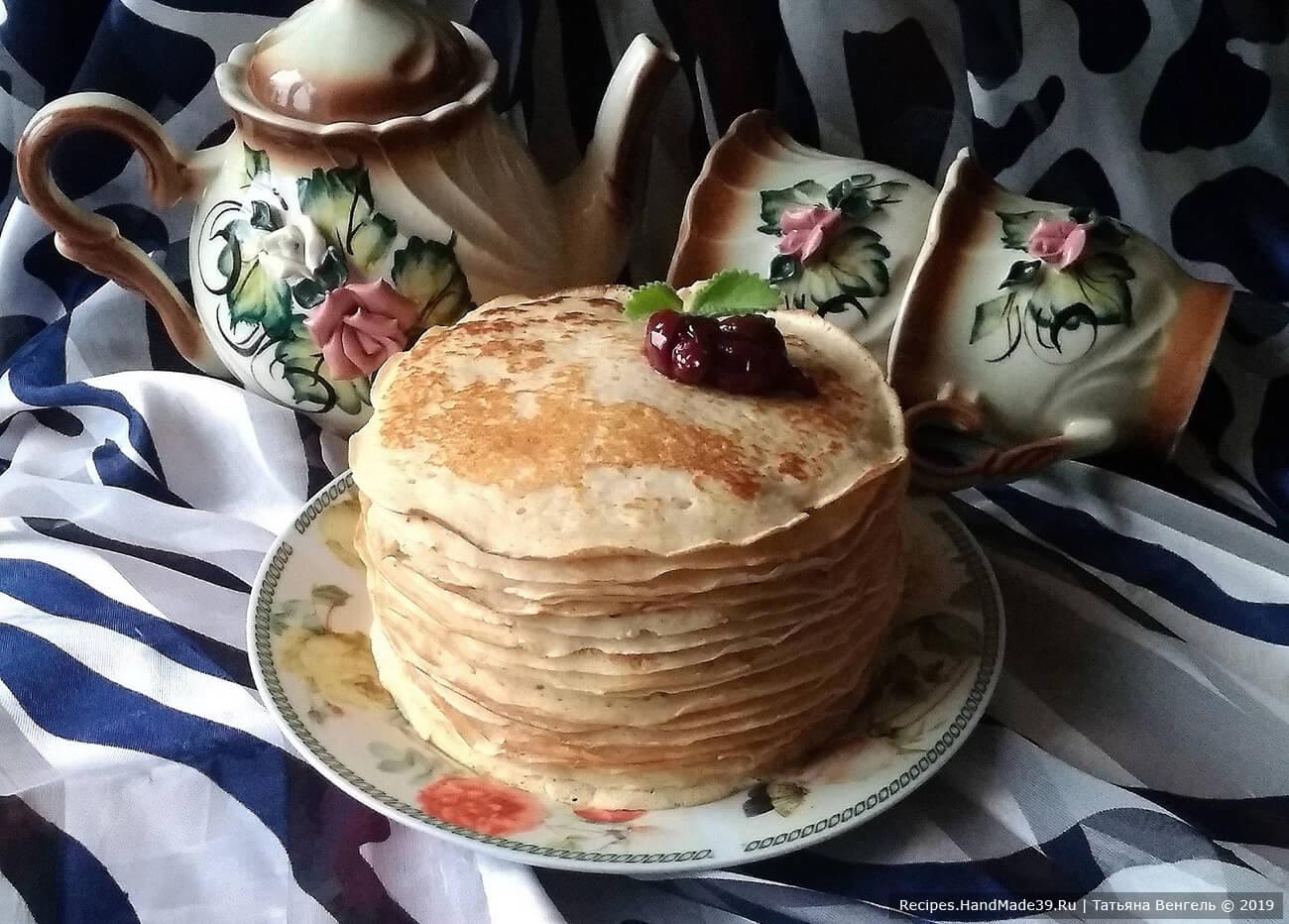 Манно-овсяные блины без муки – пошаговый кулинарный рецепт с фото