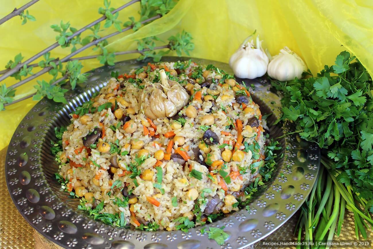 Постный плов с нутом и грибами – пошаговый кулинарный рецепт с фото