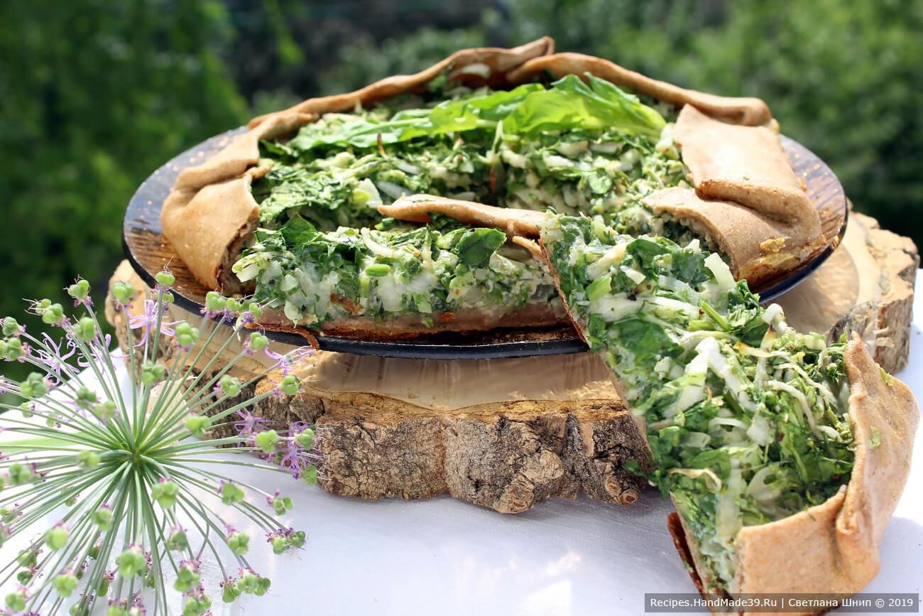 Ржаная галета с капустой, шпинатом и зеленью – пошаговый кулинарный рецепт с фото