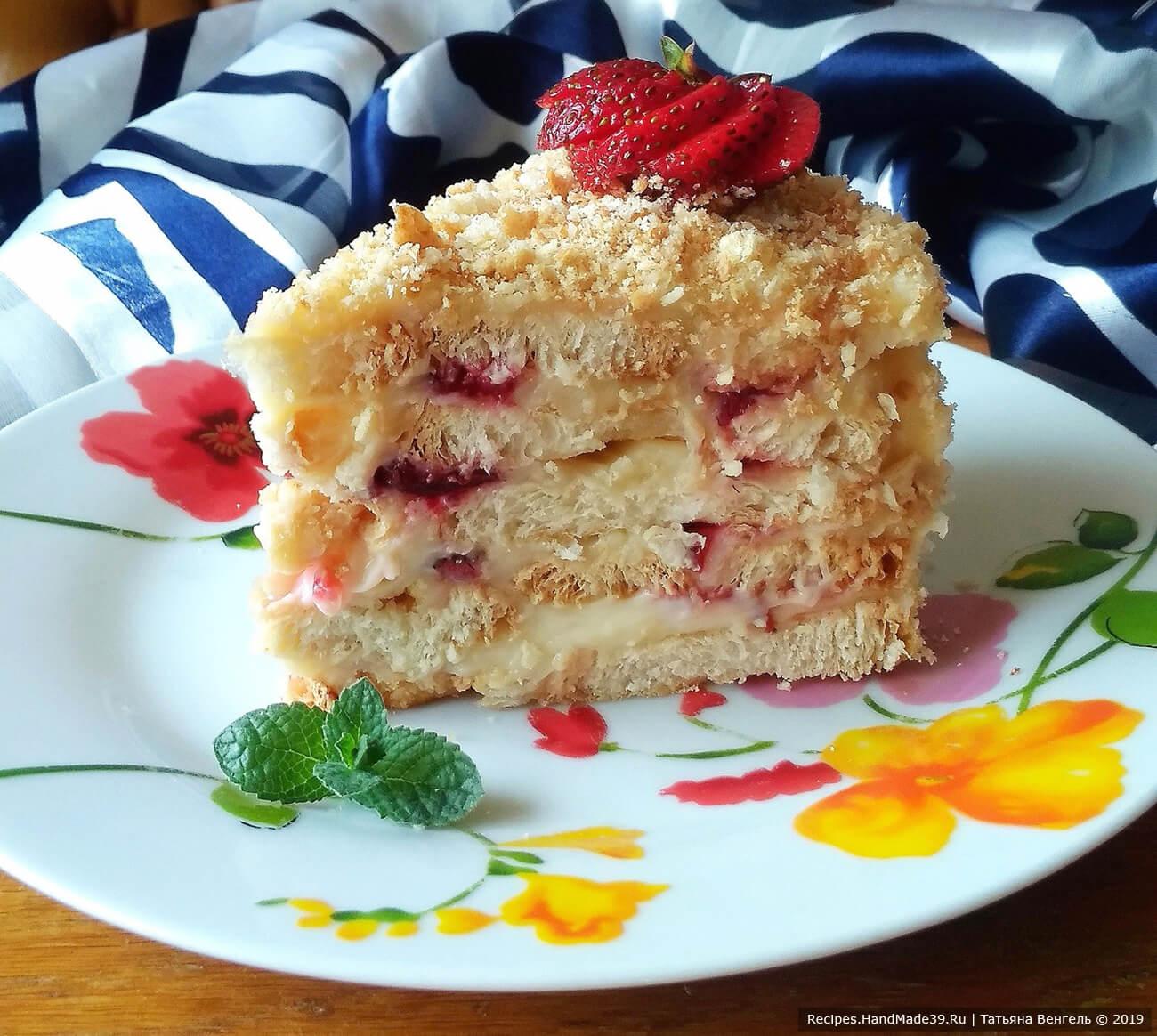 Торт «Наполеон» без выпечки на скорую руку – пошаговый рецепт с фото