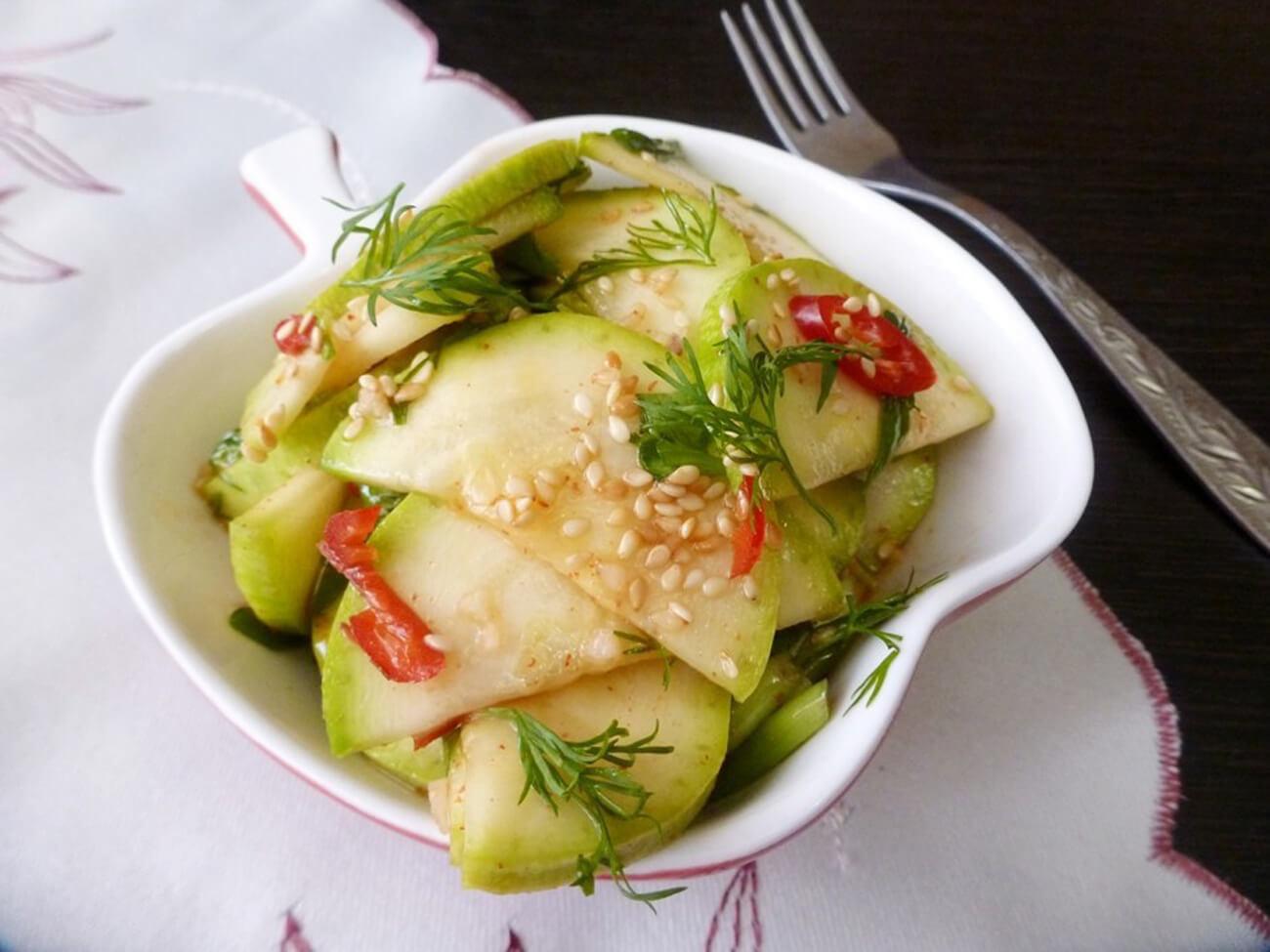 Быстрые маринованные кабачки – пошаговый кулинарный рецепт с фото