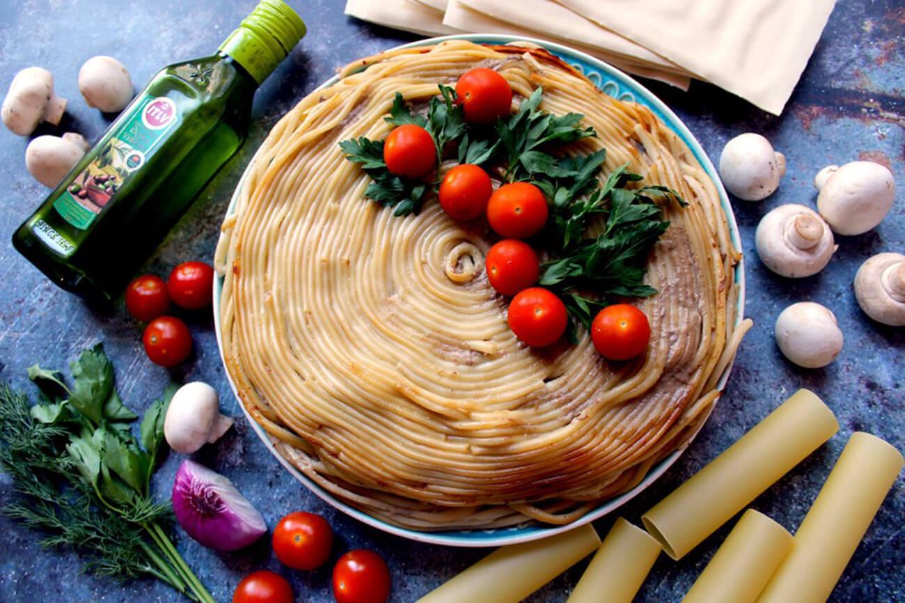 Тимбаль с мясным фаршем и грибами – пошаговый кулинарный рецепт с фото