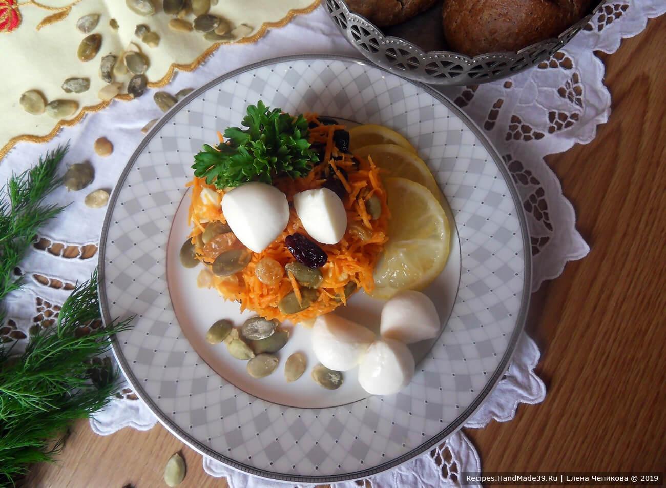 Салат из моркови, изюма и моцареллы – пошаговый кулинарный рецепт с фото
