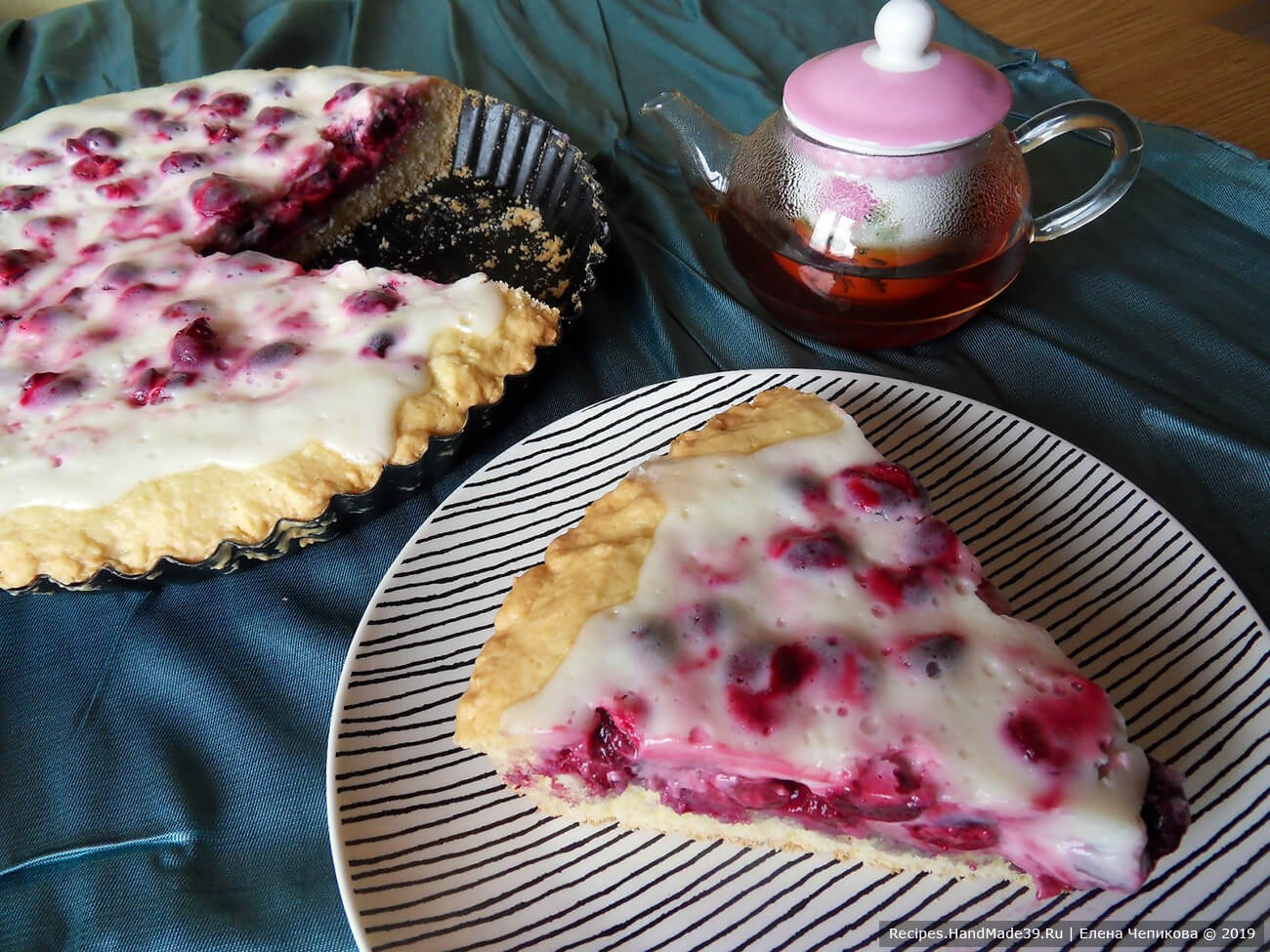 Пирог с вишней в сметане – пошаговый кулинарный рецепт с фото