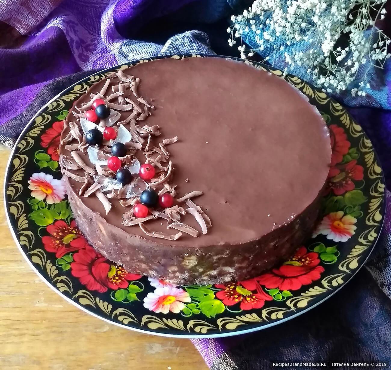 Торт без выпечки из печенья – пошаговый кулинарный рецепт с фото
