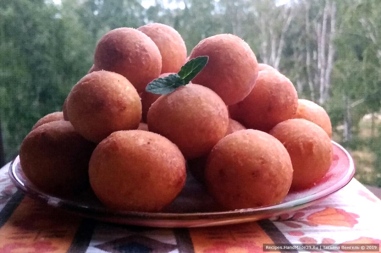 Творожные пончики – пошаговый кулинарный рецепт с фото